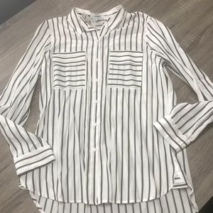 NWT express striped button up